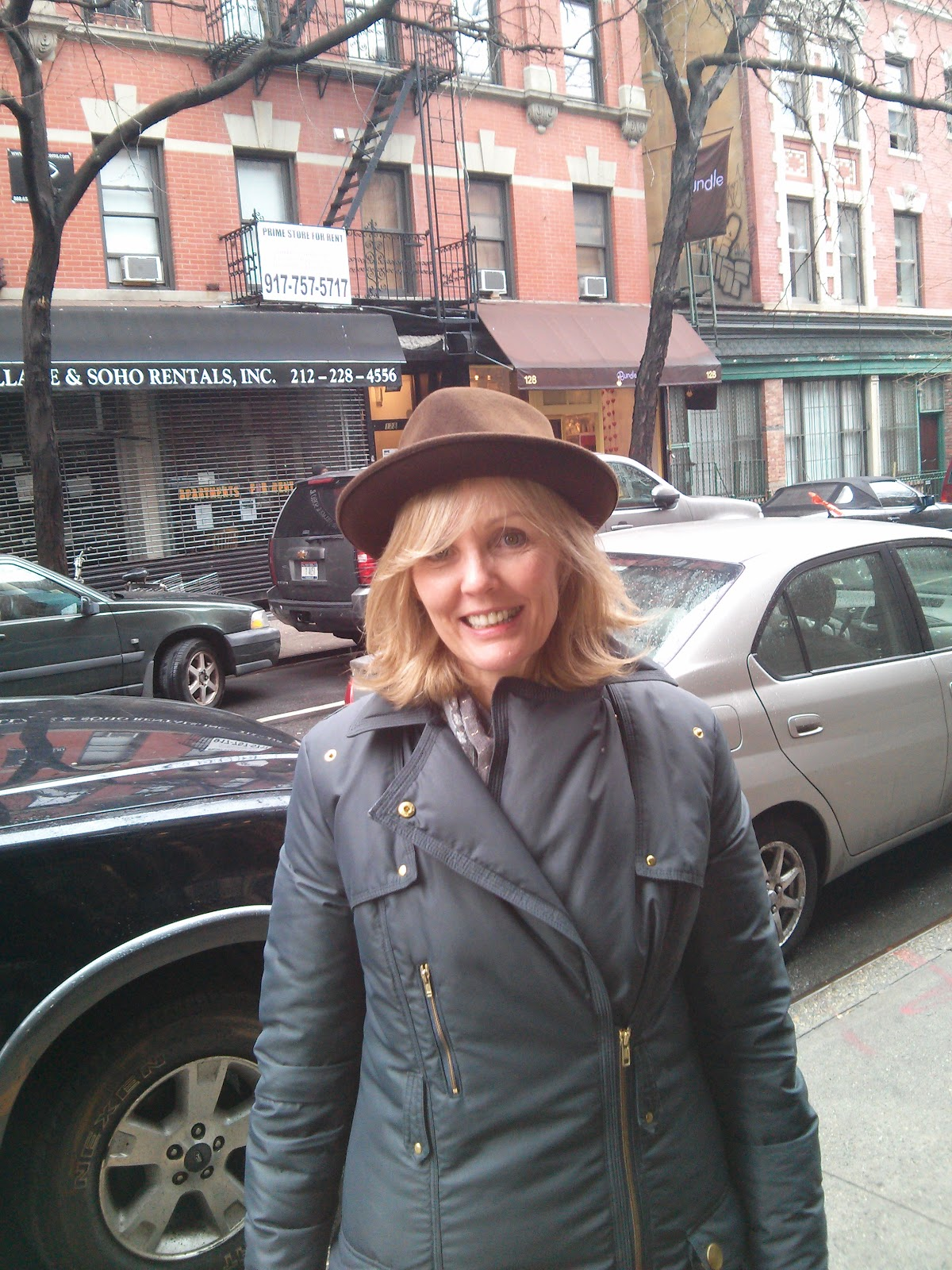 Stetson Hat on a Lady in NYC