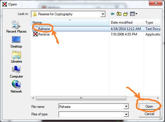 Cara Mengunci File Rahasia