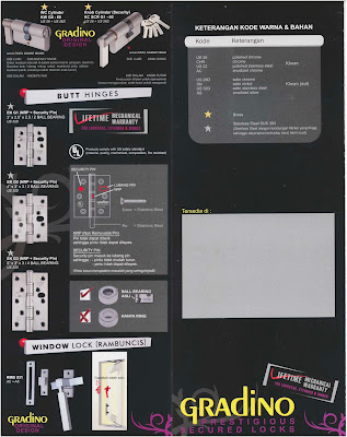 Brosur Hardware Pintu Jendela GRADINO