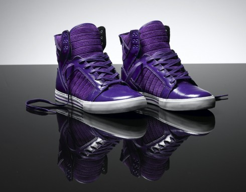 justin bieber purple supras shoes. Justin Bieber#39;s purple supra
