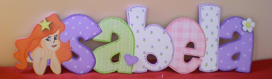 Percheros infantiles letreros nombre bebe - Letras decorativas para habitaciones infantiles ...