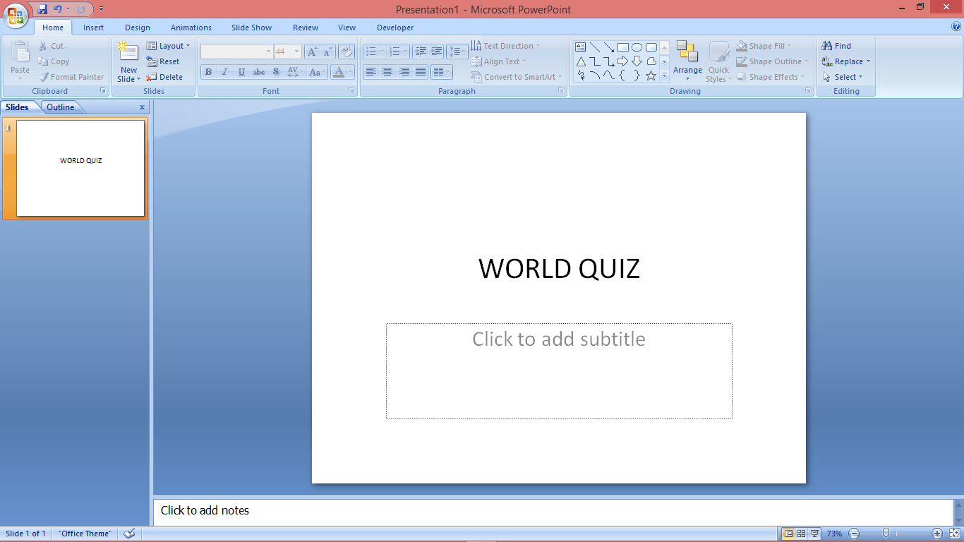 vba activate powerpoint slide