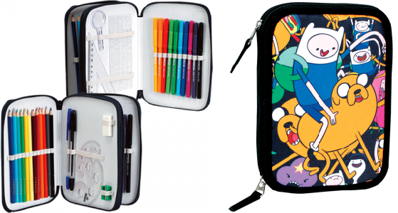 Adventure Time - Double Zipper Pencil Case