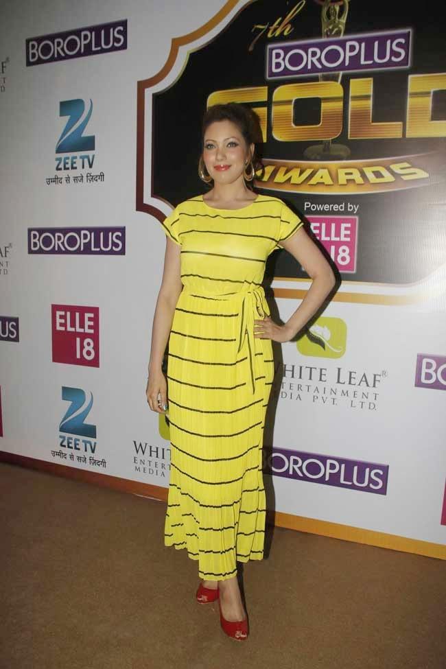 Munmun Dutta at 7th Zee Gold Awards 2014
