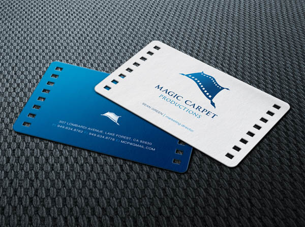 30 blue business card designs for inspiration