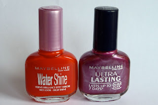 Maybelline Nail Polishes in Flamboyant Coral and Rich Plum
