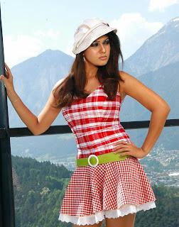 Nayanthara in Red Skirt Hot Photos