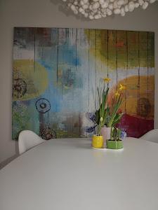 Indret med malerier. 140x180