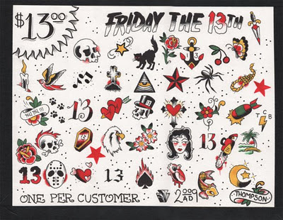Friday The 13 Tattoo