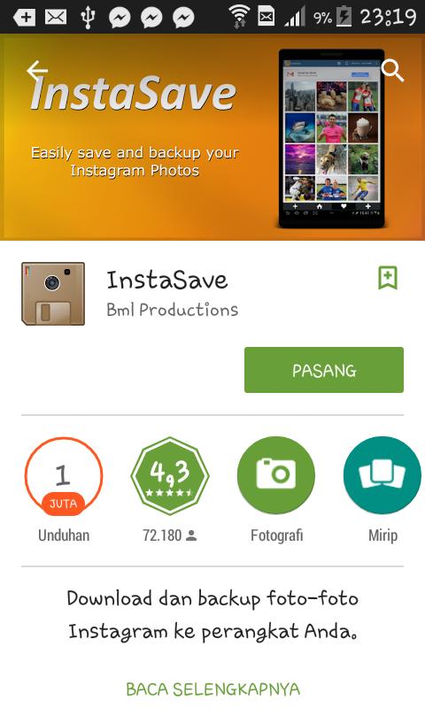 Cara Download Foto Instagram di Android