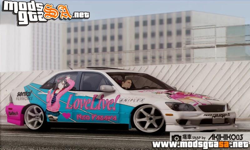 SA - Toyota Altezza with Nico Yazawa Itasha