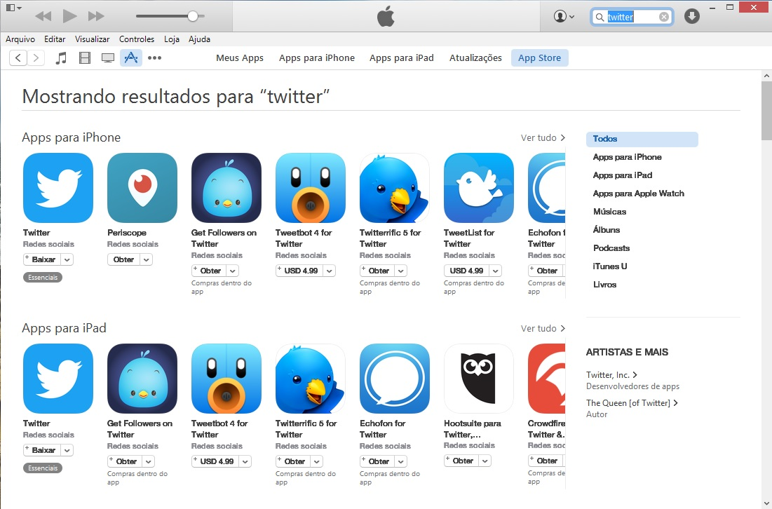 algoritmos de busca na App Store