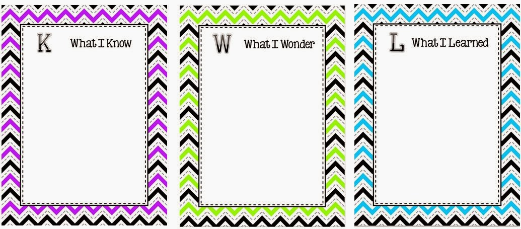 Classroom Freebies Kwl Chart