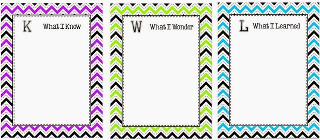 Classroom Freebies KWL Chart – Kwl Chart