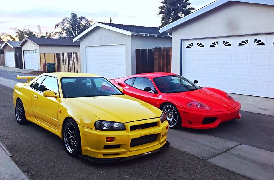 1999 Nissan Skyline GT R EV1   Lighting Yellow And Some F Car. Photo    Steven Shao