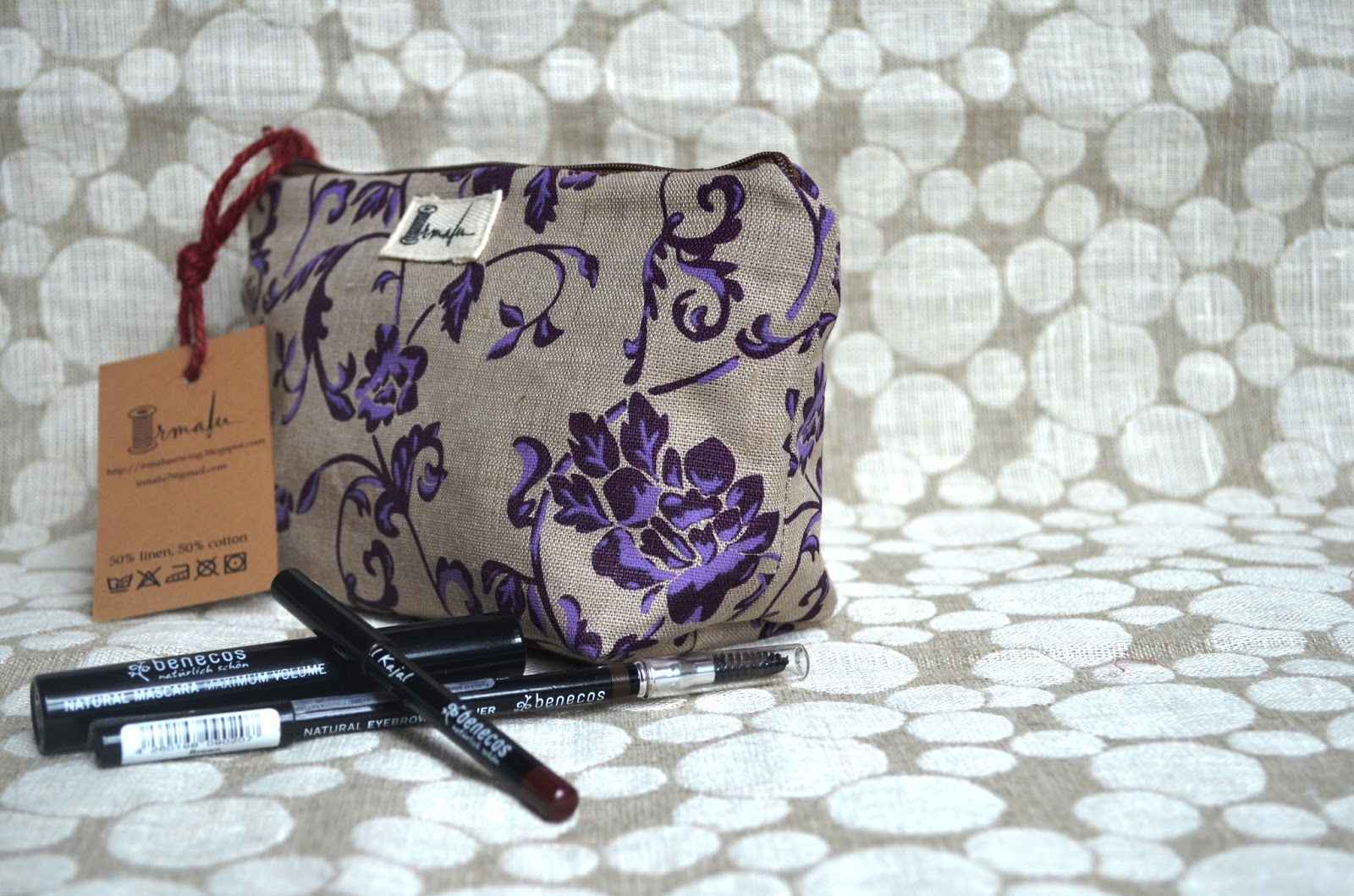 Irmalu Linen Cosmetic Bags