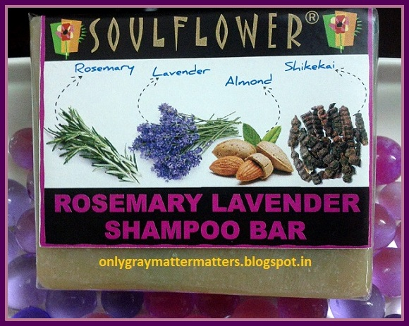 Soulflower Rosemary Lavender Sulphates free Shampoo Bar Review