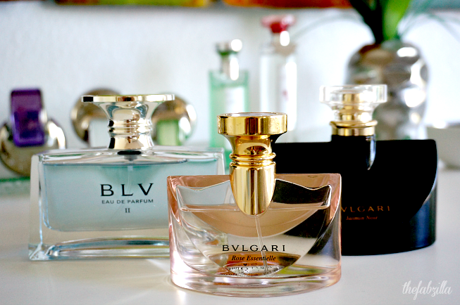 Favorite Fragrance, Bulgari, Bvlgari collection, Bvlgari Rose Essentielle, Bvlgari Jasmine Noir, Bvlgari BLV II, Review