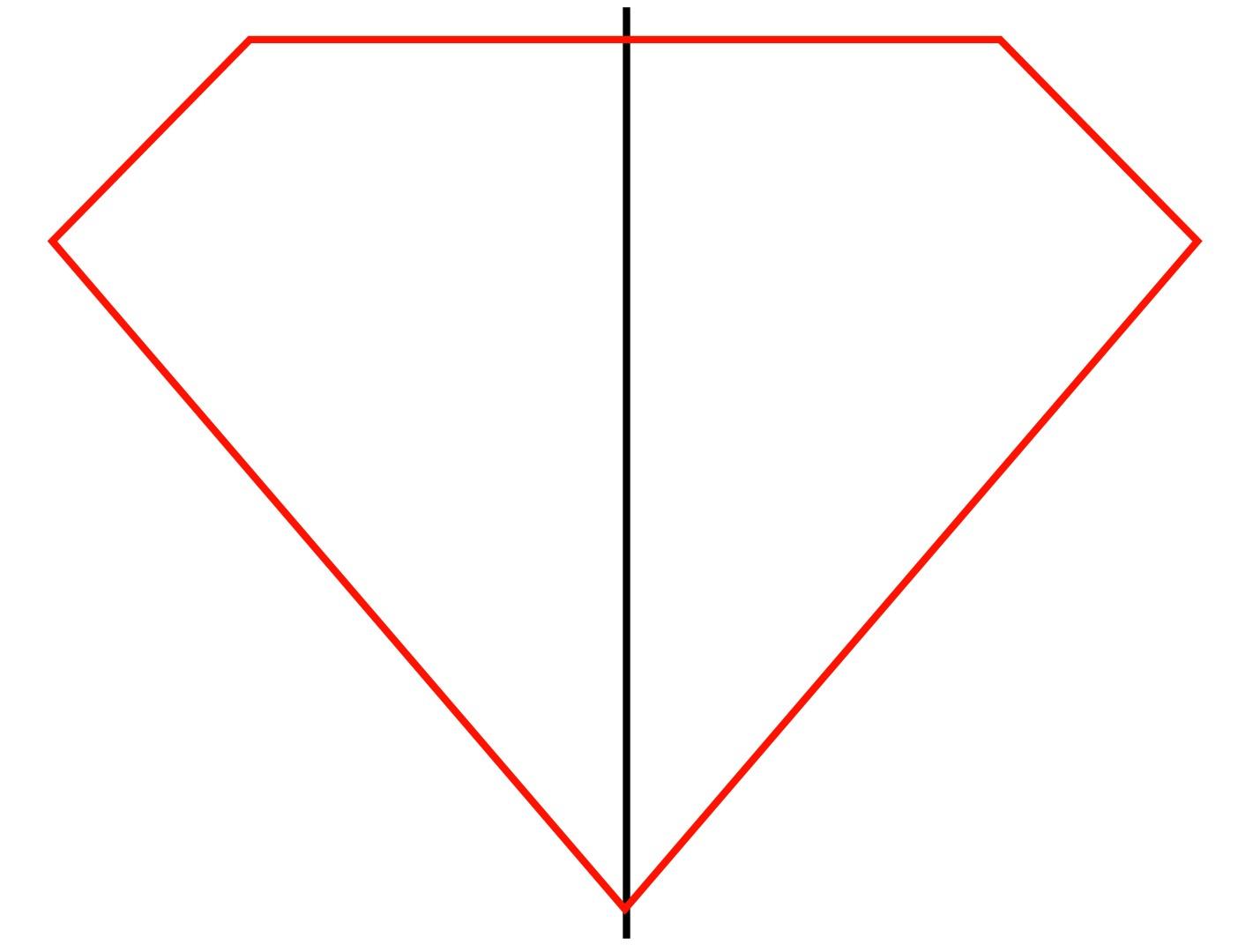 simple diamond shape outline
