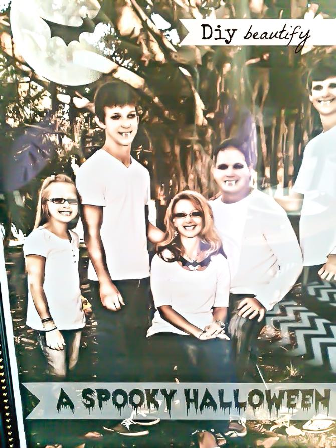 spooky family portrait