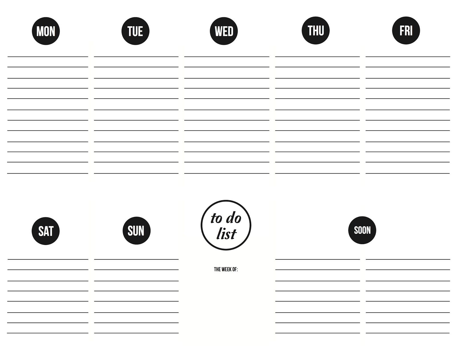 Weekly Calendar With To Do List : The obsessive imagist art design life get organized