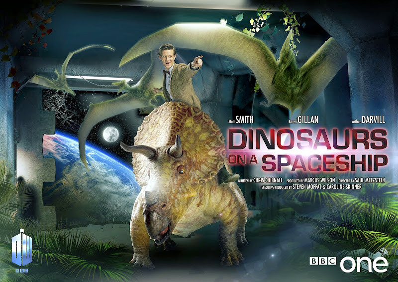 Doctor Who Dinosaurs on a Spaceship poster