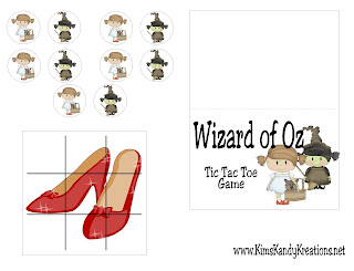 wizard of oz game printable with bag topper