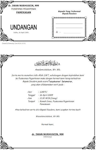 Download Contoh Desain Undangan Tasyakuran Pindah Kerja