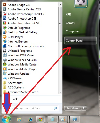 how to change password on laptop windows 7