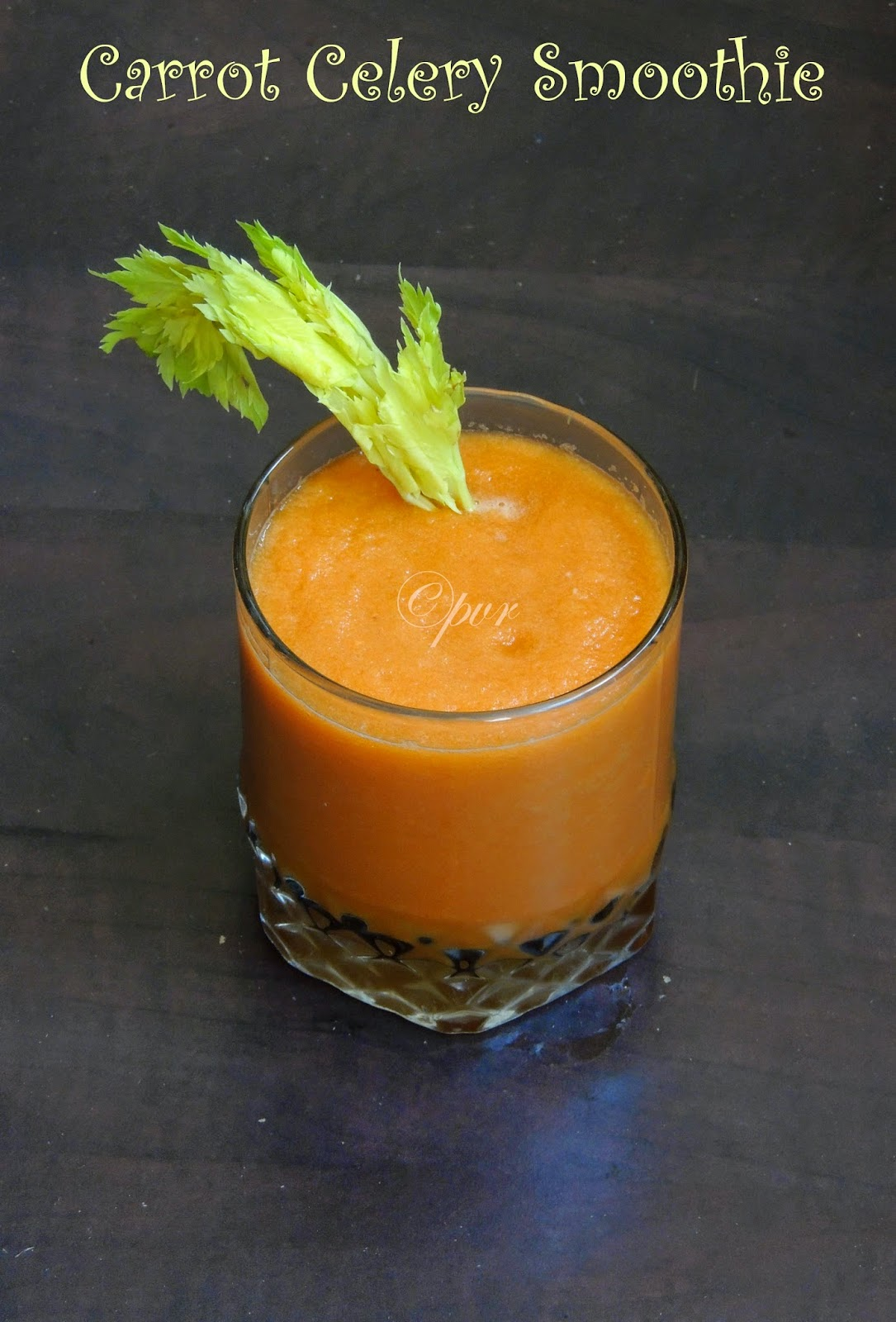 Carrot celery sweet smoothie, healthy raw vegetable smoothie