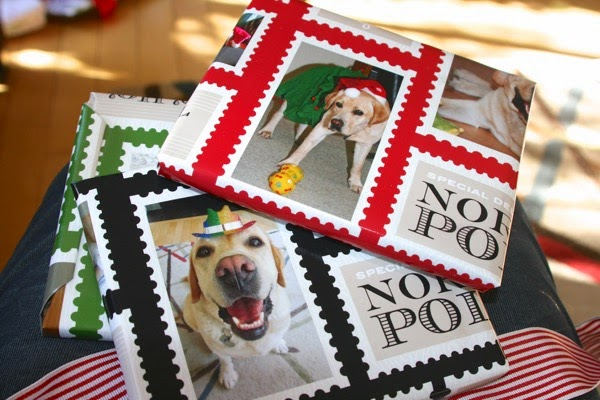 Labrador Christmas presents wrapping paper