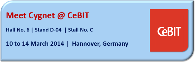 Cygnet is Participating at CeBIT 2014