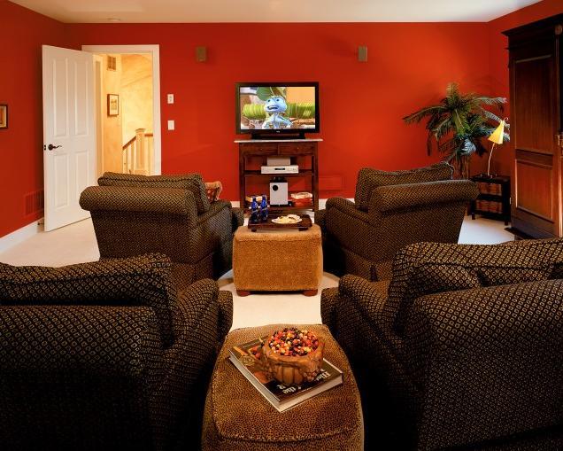 decoracao de sala humilde : decoracao de sala humilde:Blog de Decorar: Sala de TV decorada com Sofá Único e Chaise