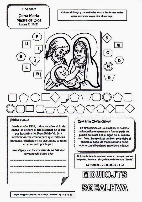 RECURSOS PARA CATEQUESIS: María Madre de Dios