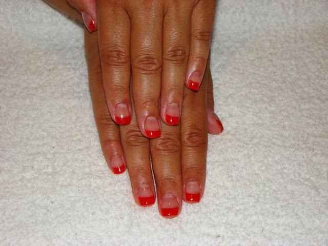 French-Red-Acrylics-Pink-Crystal-acrylic-fill-LED polish mini-manicure- Gel-Nails-Polish-LED-Polish-LED-Nails-Acrylic-Nails-Nail-Art