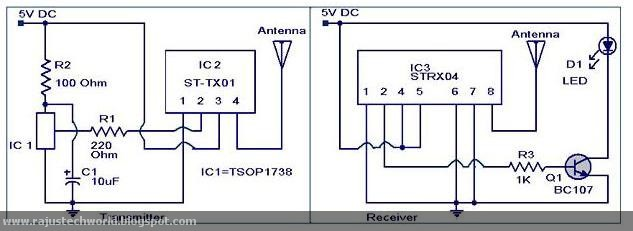 raju u0026 39 s tech world  circuit on ir to rf converter