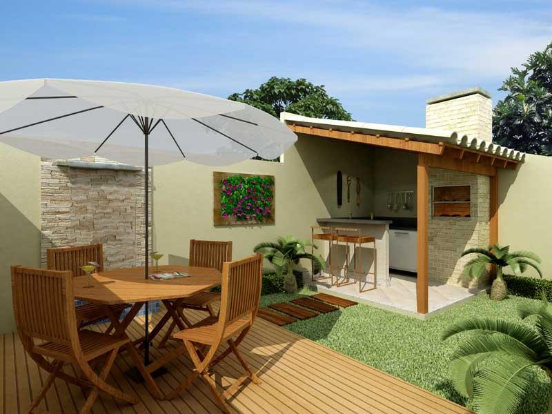 ideias para decorar meu jardim:Quintal De Casa