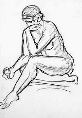 Bocetos Escultor Luis Marco Perez Mujeres Desnudas