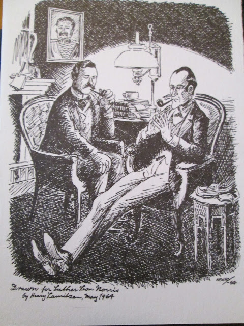 Luther Norris draws Sherlock Holmes