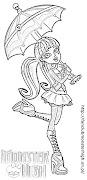 Draculaura z parasolkąkolorowanka do druku