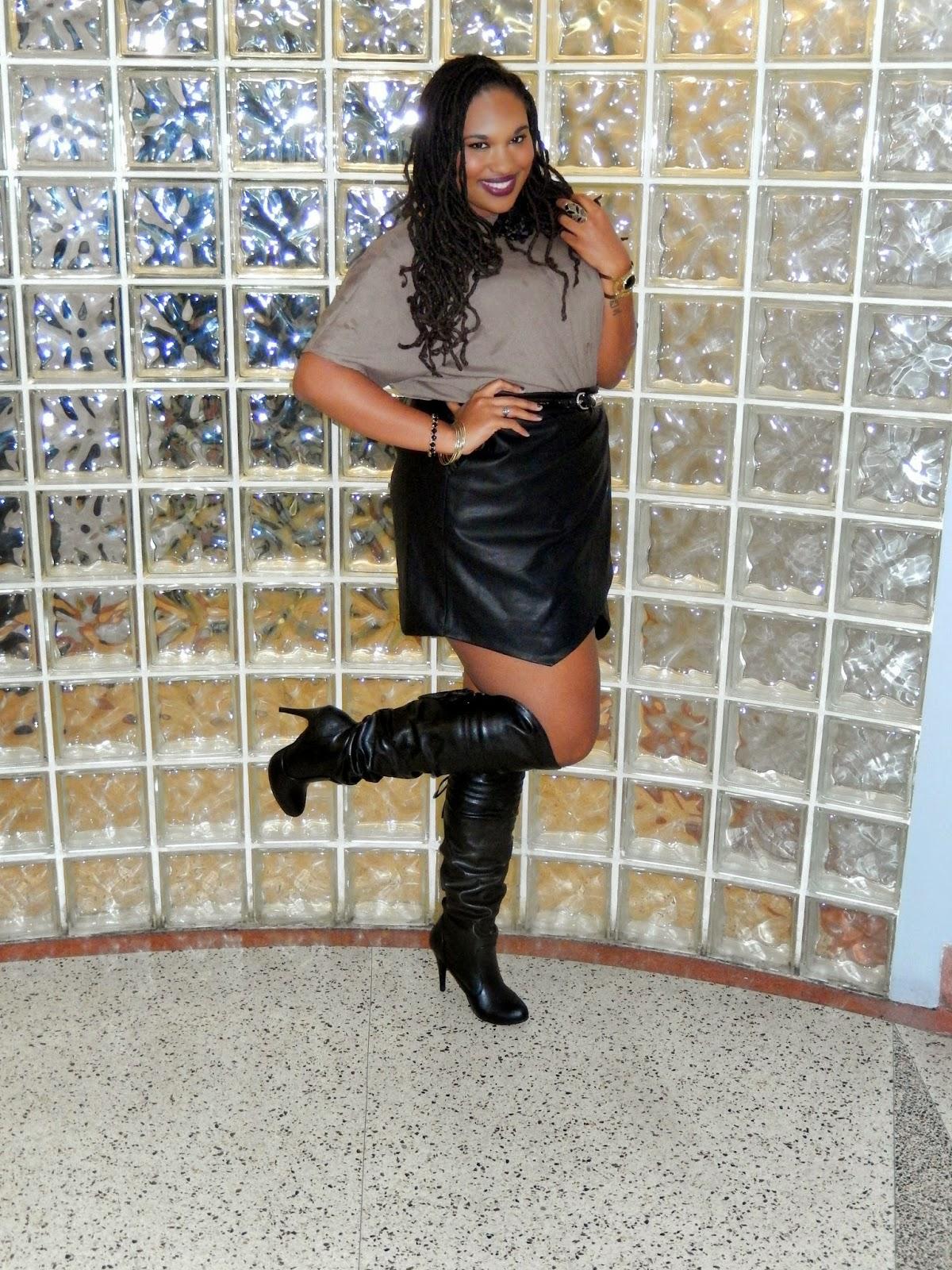 A-Line Skirt & Thigh Highs - A Thick Girl\'s Closet
