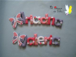 nombre-decorativo-en-fieltro-Ariadna-Valeria-decoración-infantil-hecha-a-mano-detalle-nacimiento-personalizado
