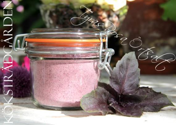 Tyras Rosa Örtsalt med doft och smak från köksträdgården