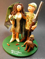 hunters wedding cake toppers