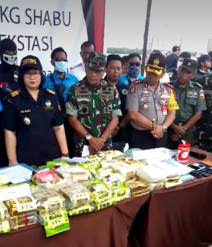 10 Bandar Narkoba Ditangkap Barbut Sabu 105 Kg Diungkap BNN, TNI AL dan Bea Cukai