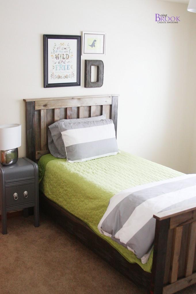 Gray Nightstand Makeover Dinosaur Boy Bedroom Beingbrook