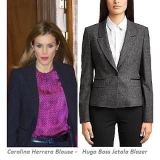 CAROLINA HERRERA Blouse + HUGO BOSS Suit