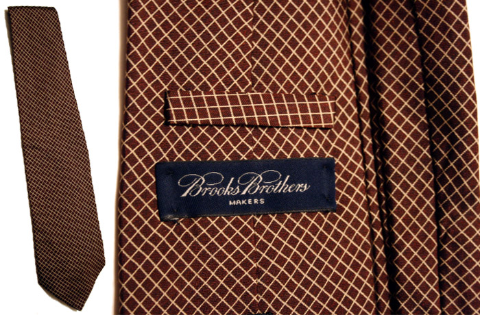 Brooks Brothers brown diamonds