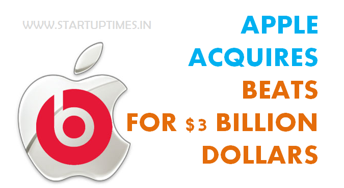 BEATS AUDIO ACQUIRED BY APPLE INC., FOR $3 billion dollar on June 02, 2014