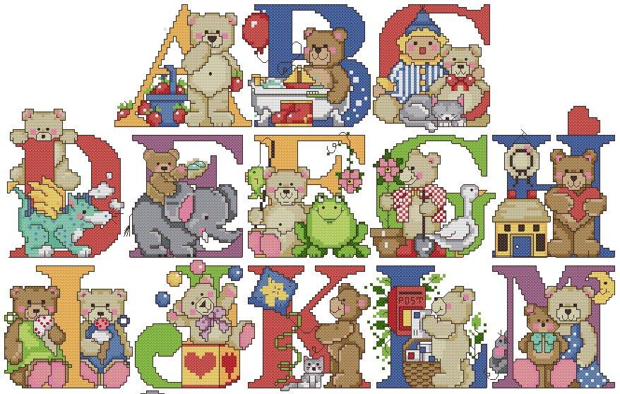 Lilla 39 s gifs dividers alfabeto for Schemi punto croce alfabeto bambini
